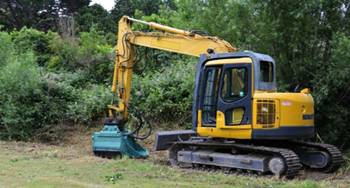 Wilding wood management digger